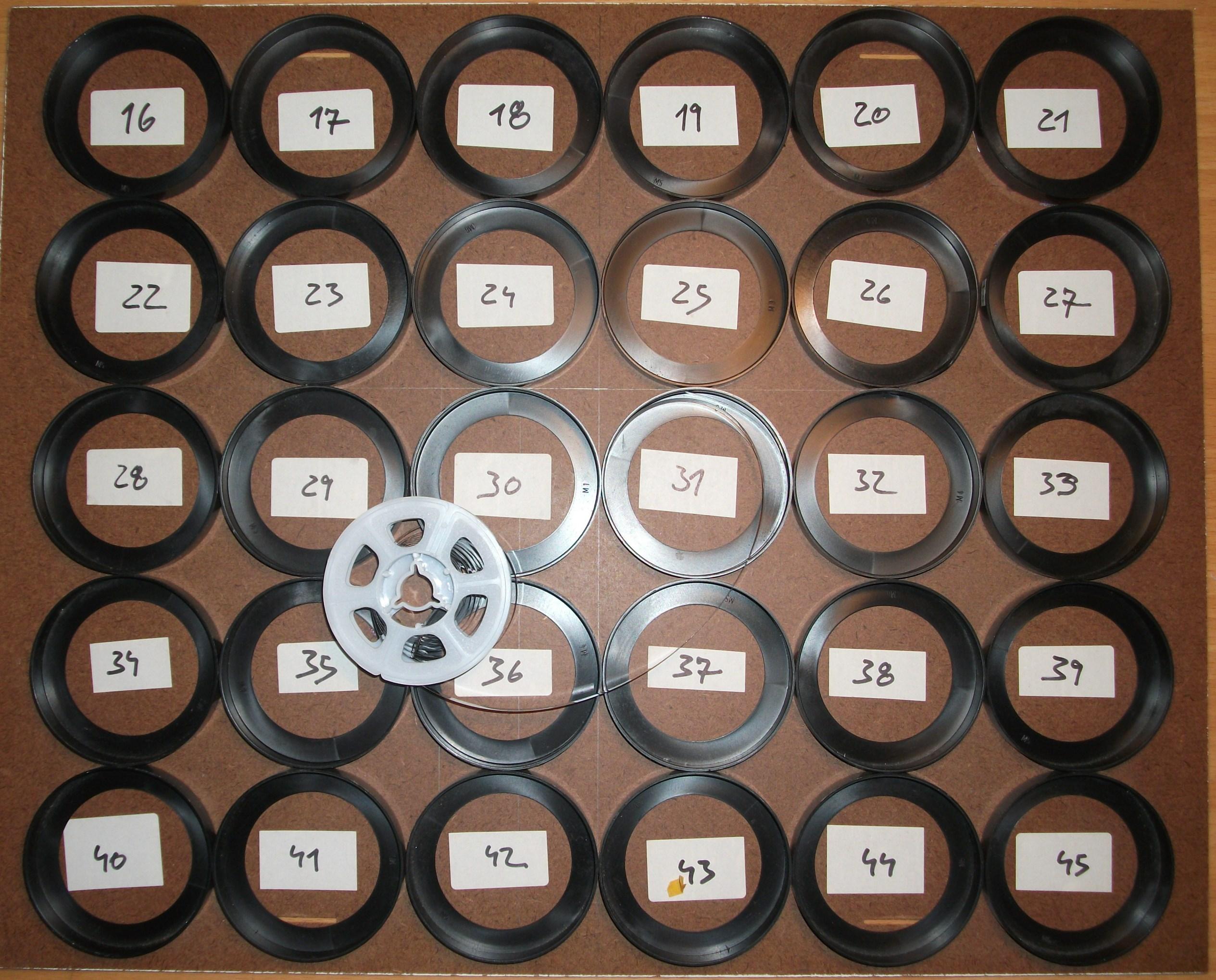 Filmsortierbrett für klassischen Filmschnitt