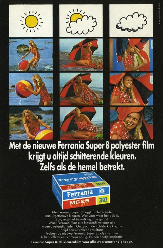 Historische Ferrania-Werbung aus Holland
