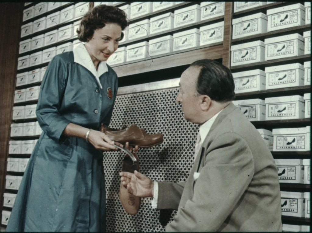 Werbung für Salamander Schuhe, 1950er Jahre