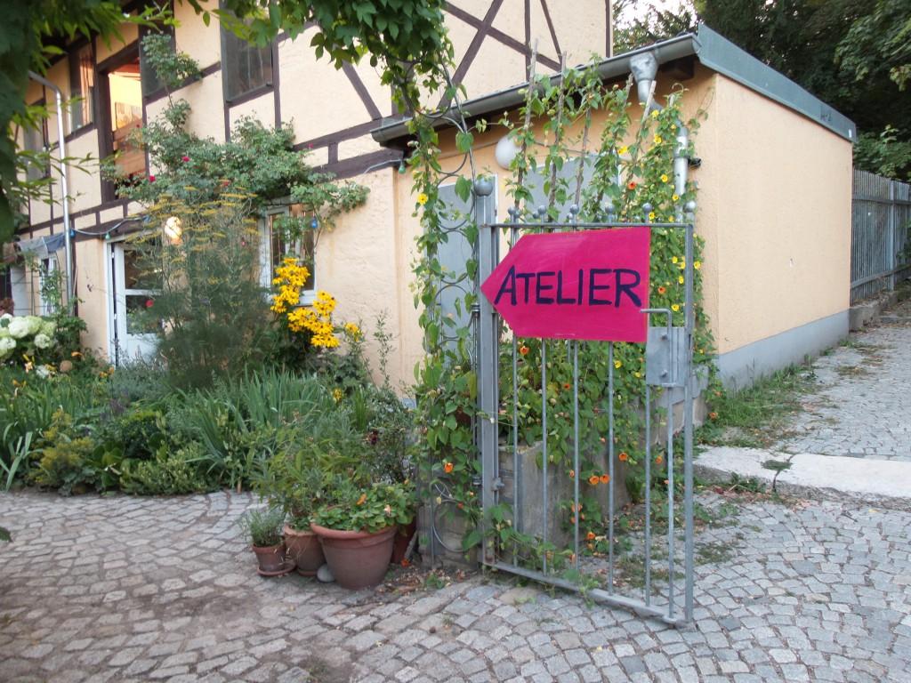 Das Atelier der beiden Regensburger Künstler Alexandra Schick-Ries und Sepp Schick