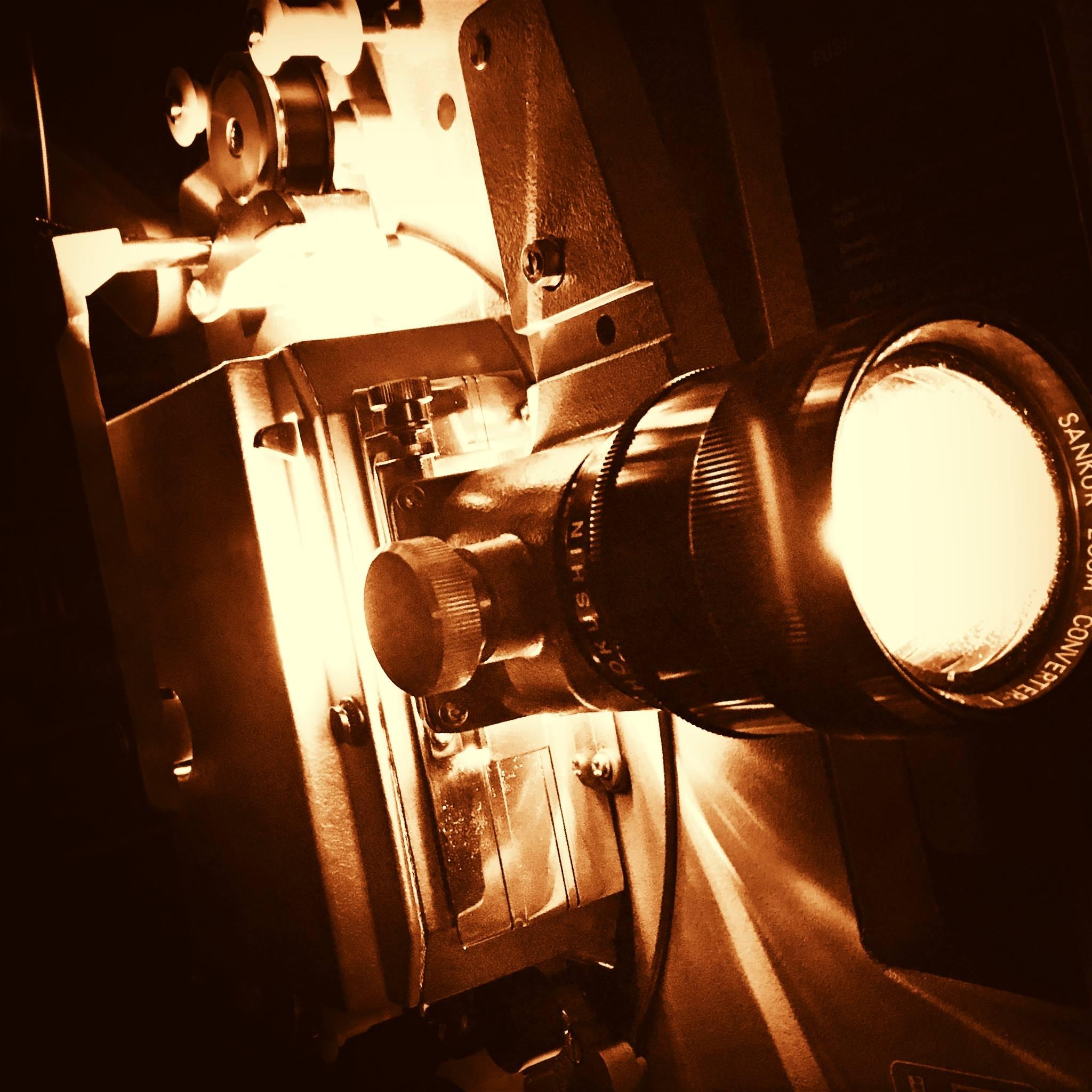 16mm-Filmprojektion beim Zwickauer Literaturfrühling