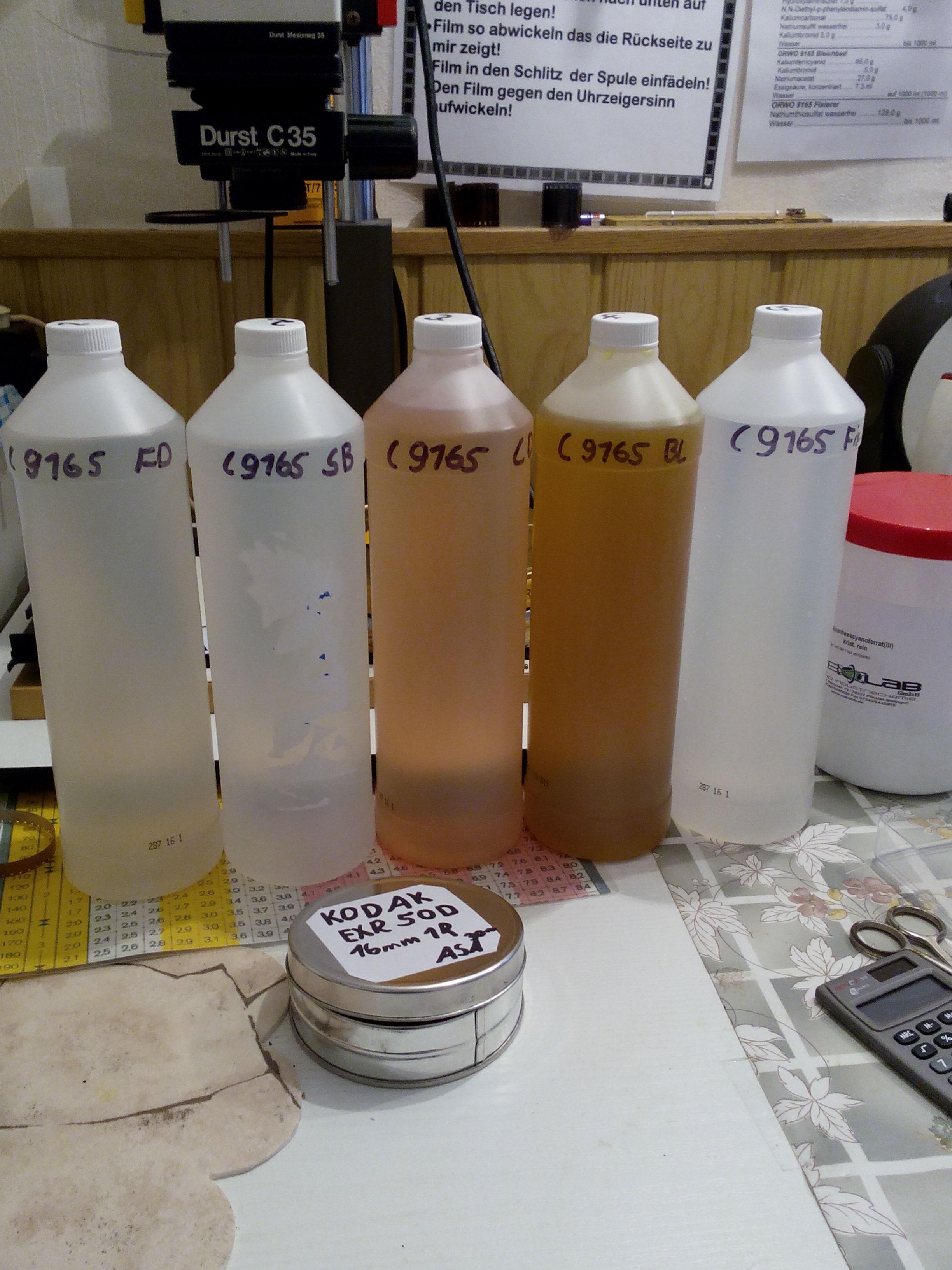 ORWO C 9165 Entwicklung in nachgebauter Chemie