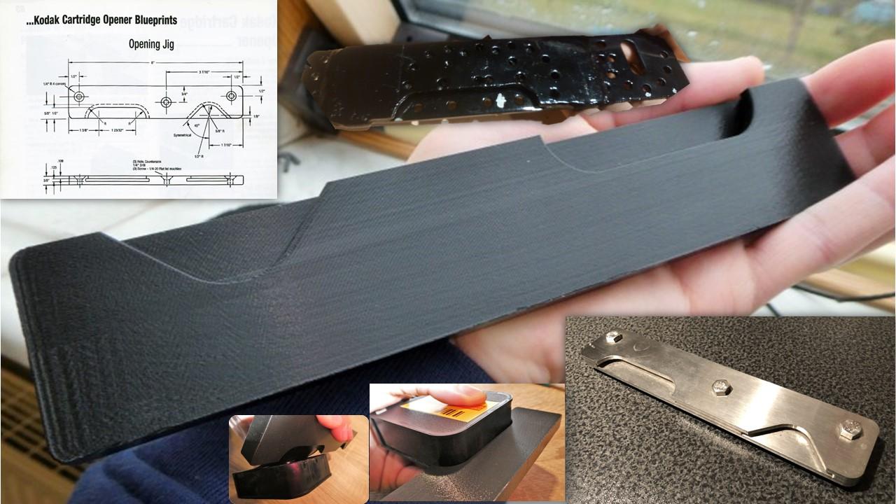 Super 8 Kassettenöffner aus dem 3D-Drucker