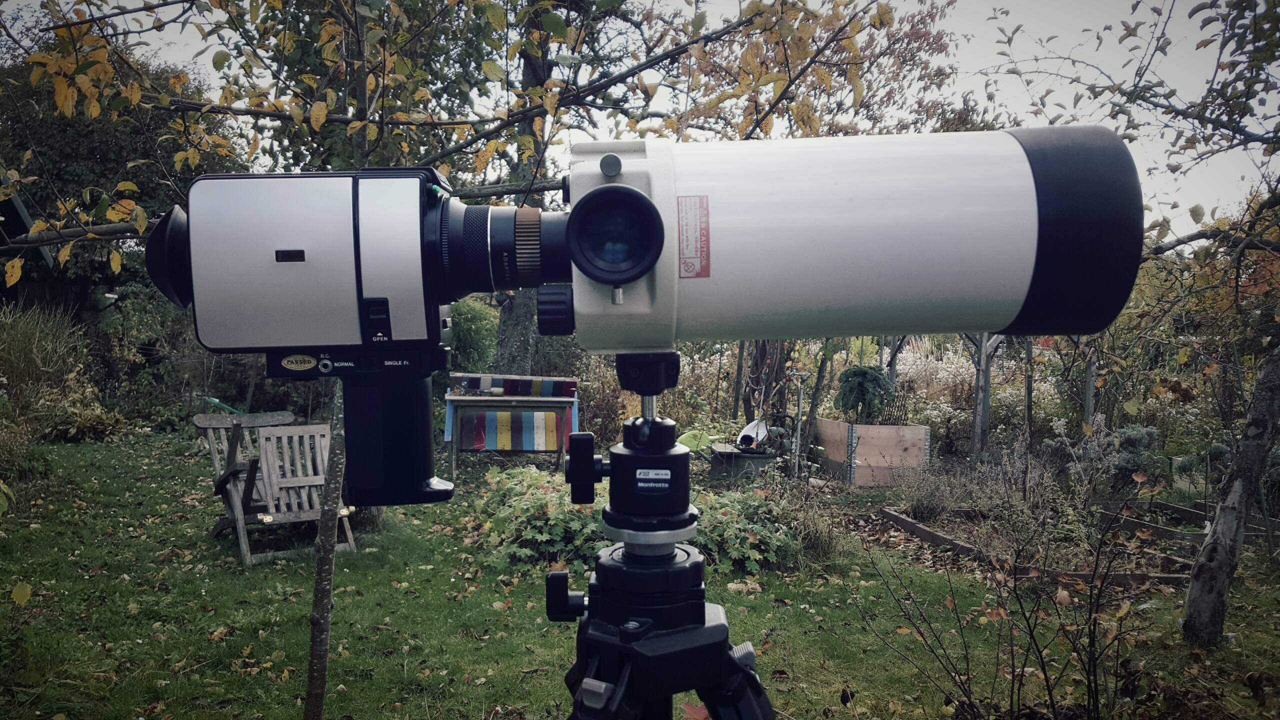 Extreme telephoto focal lengths for Super8 – a first attempt
